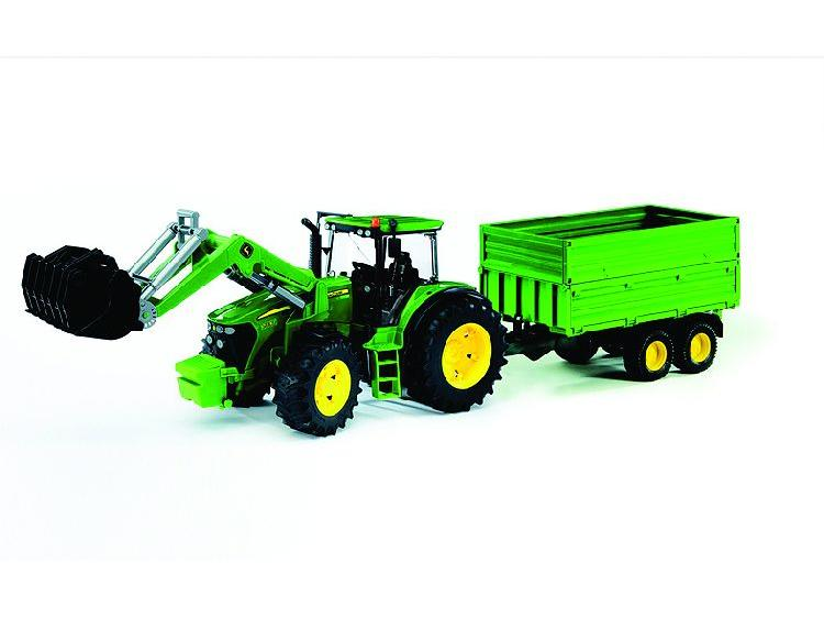 Traktor John D 7930 utánfutóval - Bruder