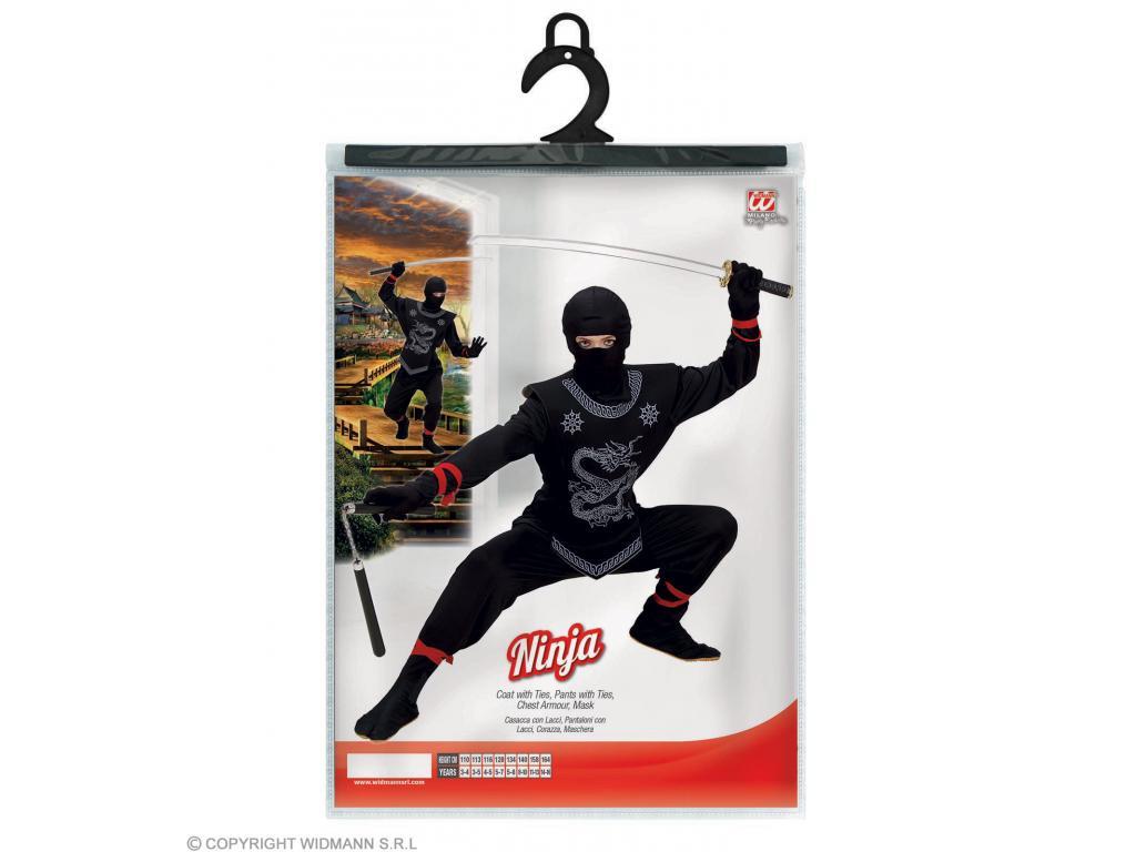 5f1c69506a Fekete Ninja fiú jelmez