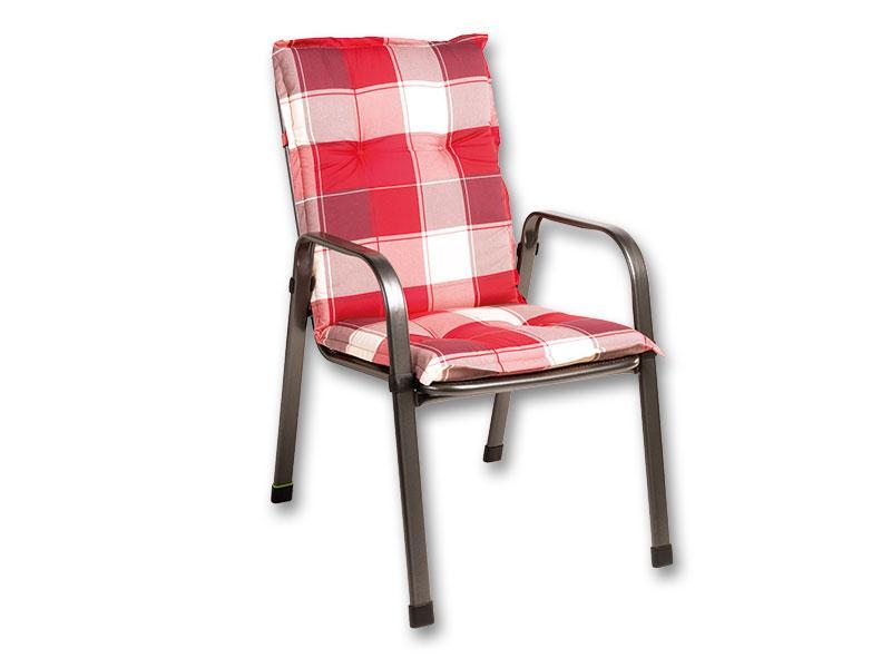 Naxos Savoy párna székre 105 49 6 cm-es piros kockás ad8c2faa54