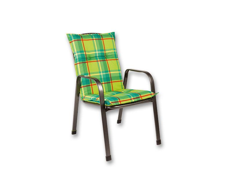 Lima Savoy párna székre 105 49 6 cm-es zöld sárga csíkos 2be27fca8a