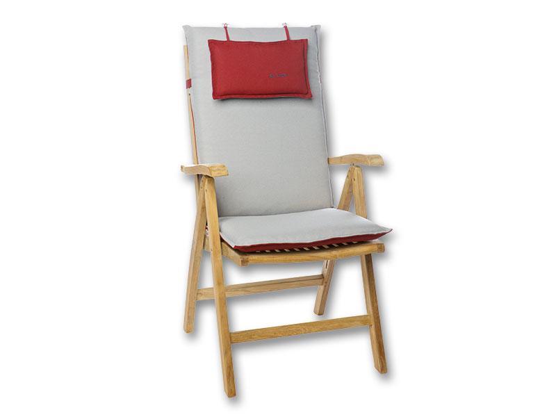 Zöldes csíkos alacsony háttámlájú székre való párna 105 x 50 x 8