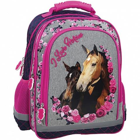 eb183df067a2 Lovas ergonomikus iskolatáska hátizsák rózsákkal