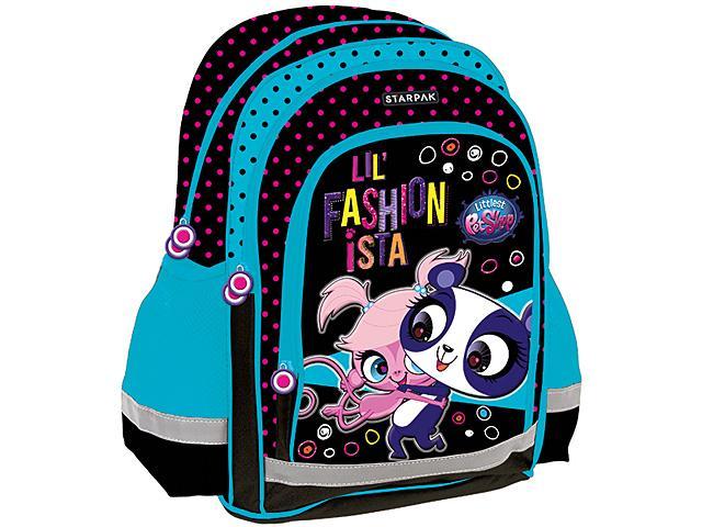 5325605094c9 Littlest Pet Shop iskolatáska hátizsák kék-fekete színben