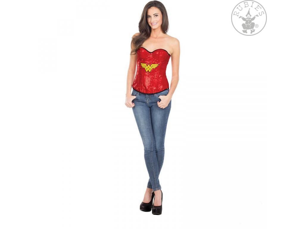 076218dbc2 Wonder Woman korzett női jelmez piros színben