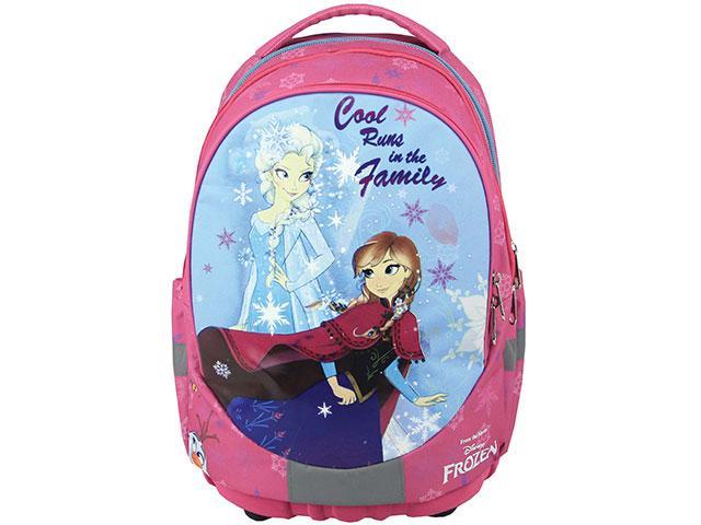 8ca13cb0442d Jégvarázs rózsaszín ergonomikus iskolatáska, hátizsák