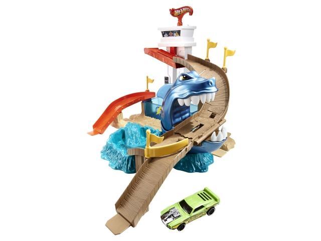 Hot Wheels: Cápatámadás pályaszett színváltós kisautóval - Mattel