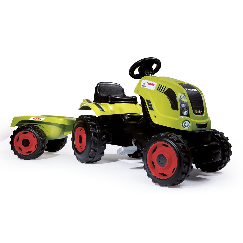 Smoby Claas ráülős traktor utánfutóval, 142 cm