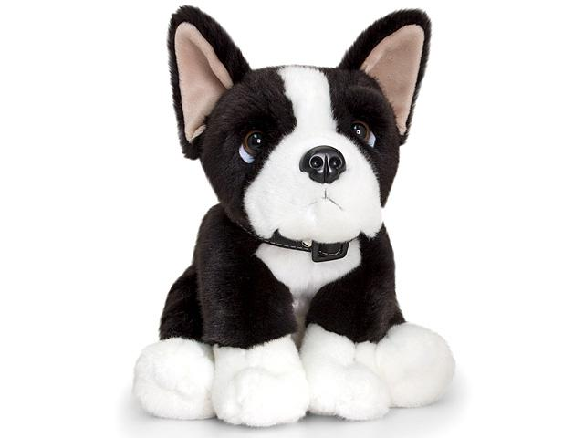 Plüss Boston terrier kutya 35cm - Keel Toys