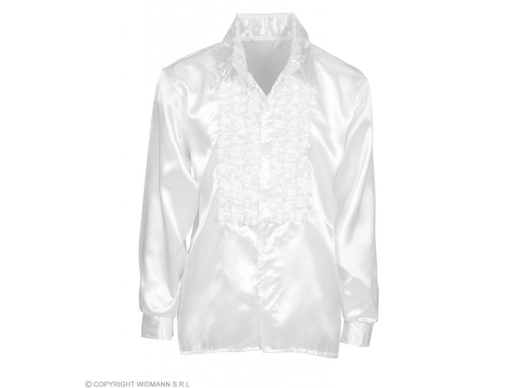 5c3e601a93 Fodros selyem ing, fehér férfi jelmez