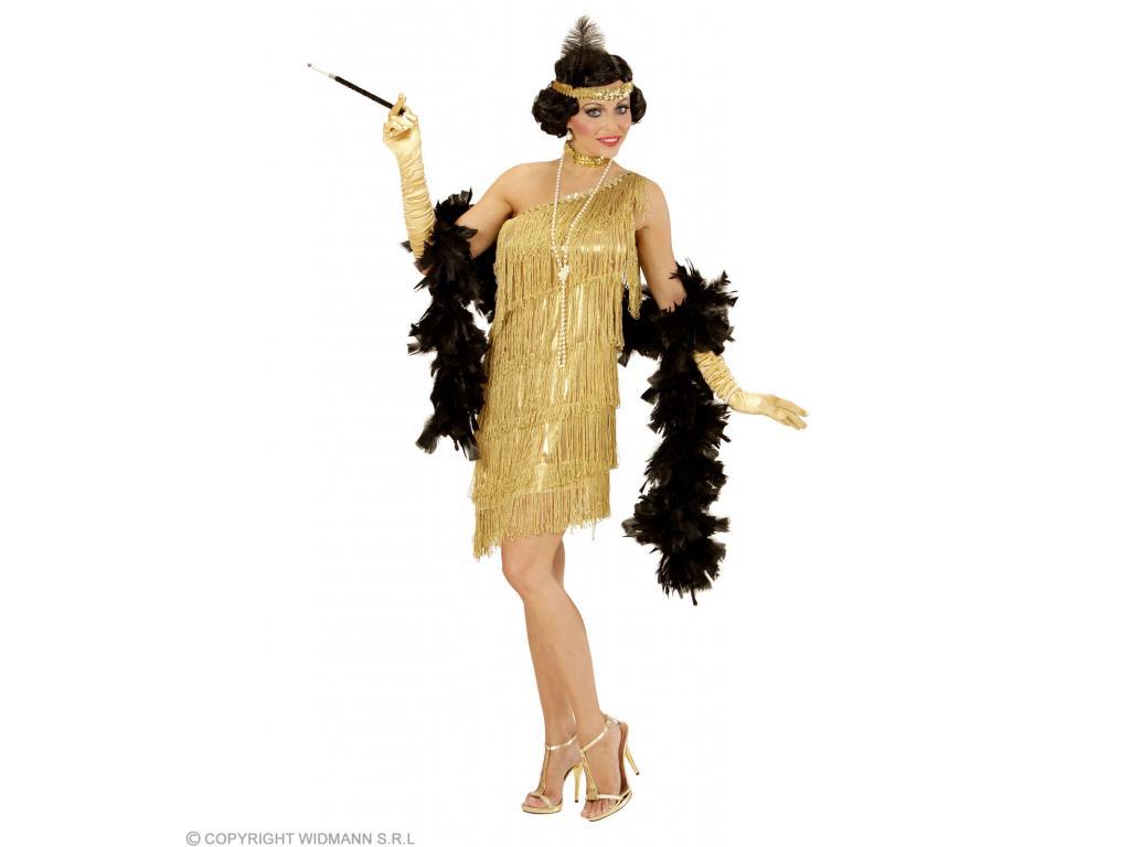 36acc6a3aa Arany charleston ruha női jelmez