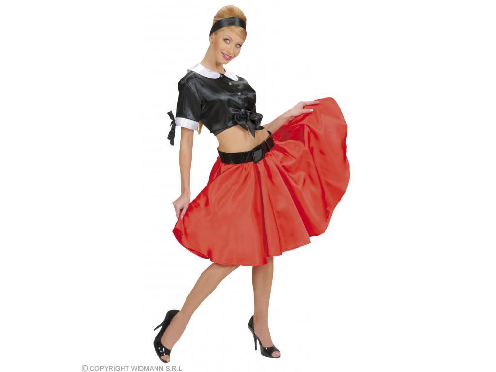 Szatén szoknya női jelmez felnőtt általános méretben piros színben 95e17da7e0