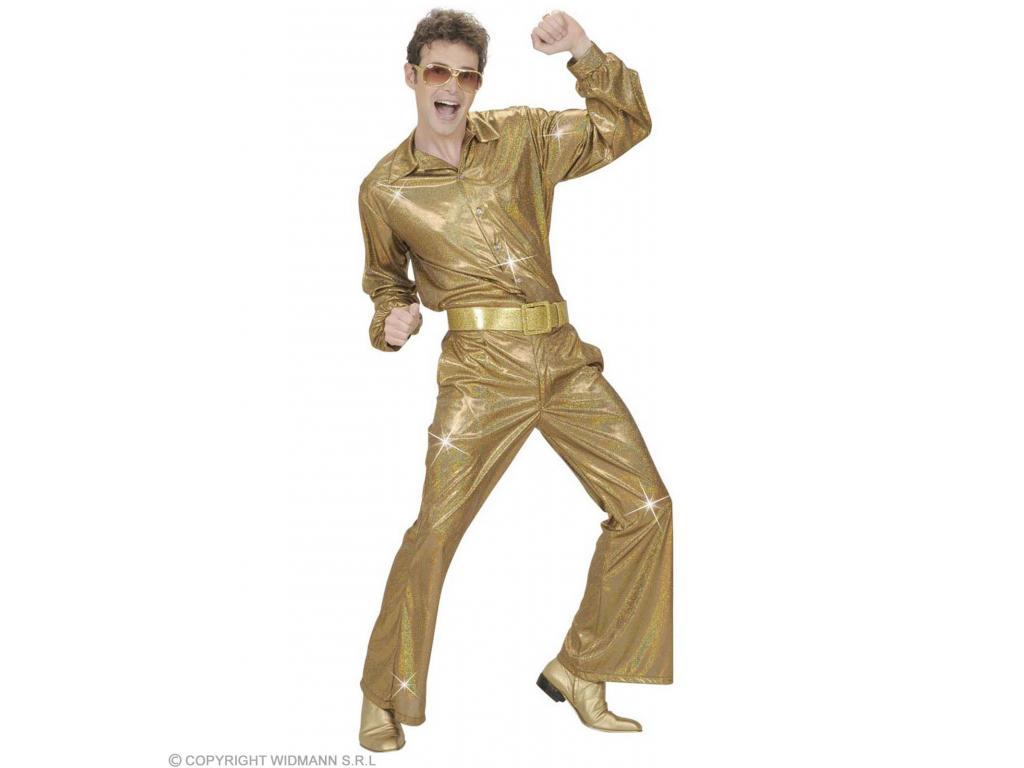 240dc1f39f Ing holografikus díszítéssel arany színben férfi jelmez