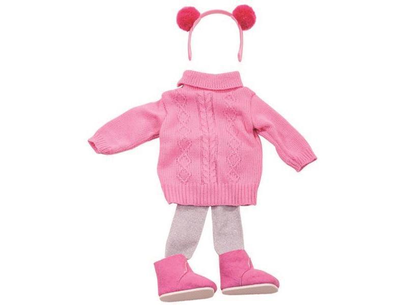 85c54c7ad7 Götz játékbaba ruha, Rózsaszín szett, 45-50 cm