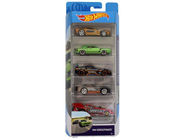 Hot Wheels: Horsepower 5db-os kisautó szett - Mattel